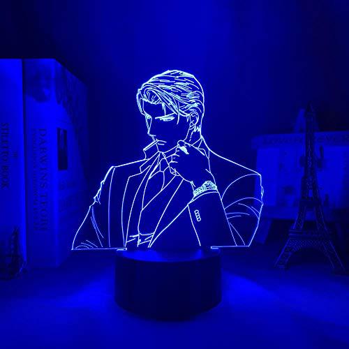 3D noche lámpara led deckenleuchte Anime Finder Series LED noche luz Ryuichi asami dormitorio decoración regalo color manga 3D luz Ryuichi asami erjie