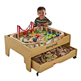Be-Creative 2-in-1 Reversible Pine City, Personalised Train Table Set FREE PERSONALISATION