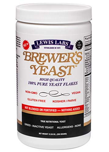 Lewis Labs Brewer's Yeast Flakes Powder, 12.35 Ounce (Packaging may vary)kosher