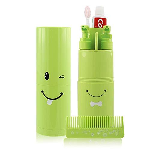 ZYJFP Travel Tandenborstel Cup Set, 3-In-1 Draagbare Reizen Toiletten Flessen, Multi-Functie Travel Wash Bag