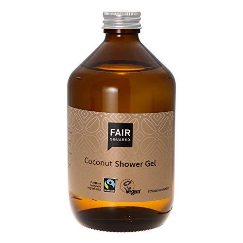FAIR SQUARED Shower Gel Coconut 500ml Duschgel Kokosnuss Kokosöl ZERO WASTE, zertifizierte Naturkosmetik