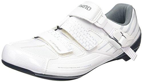 Shimano Damen Fahrradschuhe Rennradschuhe SH-RP3W , SPD-SL Klett-/Ratschenv., Damen Radsportschuhe - Rennrad, Weiß (White), 41 EU