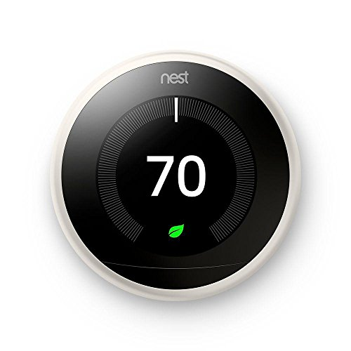 Google, T3017US, Nest Learning Thermostat, 3rd Gen, Smart Thermostat, White, Works With Alexa