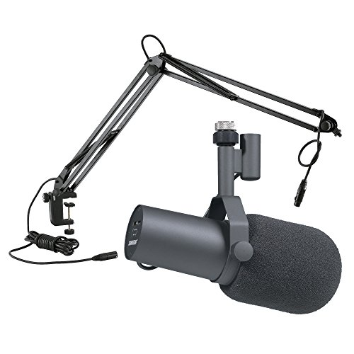 Shure SM7B Broadcast Microphone Bundle with Microphone Boom