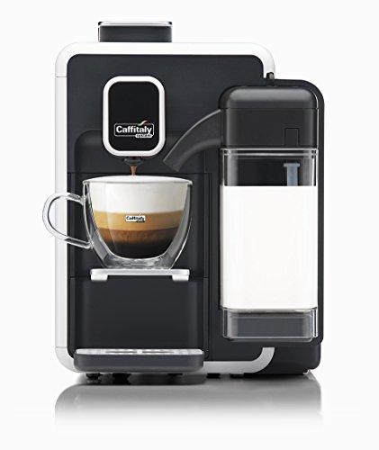Caffitaly System Weiße Kaffeemaschine S22 (weiß) + Set mit 50 Kapseln