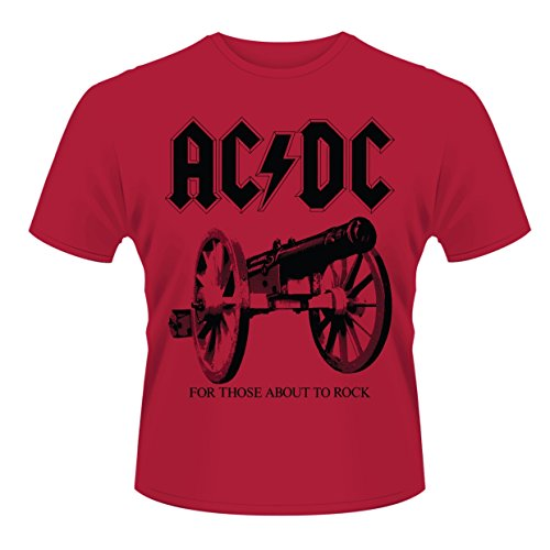 Plastic Head AC/DC For Those About To Rock Camiseta, Rosso, M para Hombre