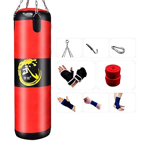 XHLLX Conjunto De Bolsas De Boxeo Rellenas, Juego De Perforación Lleno De Pesados, Bolsa De Entrenamiento Junior De Cuero, para Boxeo Muay Thai MMA Kickboxing Karate & Taekwondo Formación