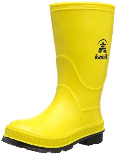 Kamik Unisex-Kinder Stomp recycelbarer Gummistiefel made in Canada, Gelb (Yellow Yek), 35 EU