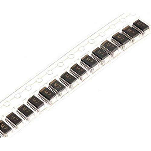 100 neue 1N4007 IN4007 M7, SMD-Dioden, 1 A/1000 V Gleichrichter