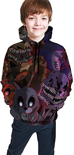 Kmehsv Fünf Nächte bei Freddy's Bear Kinder T-Shirts Sommer Tops T-Shirts für Jungen Mädchen