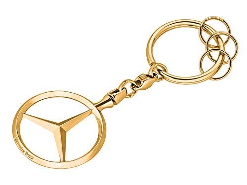 MB Original Mercedes-Benz Schlüsselanhänger Brüssel, Gold