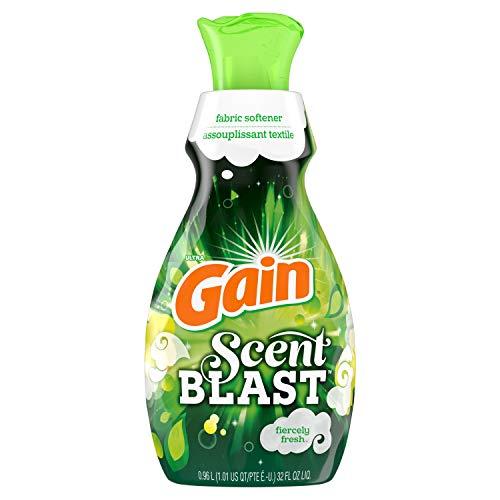 Gain Scent Blast Liquid Fabric Softener, Fiercely Fresh, 32 fl oz 48 loads