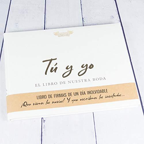 Calledelregalo Regalo de Boda para los Novios: Libro de firmas 'Tú y yo, el Libro de Nuestra Boda'.