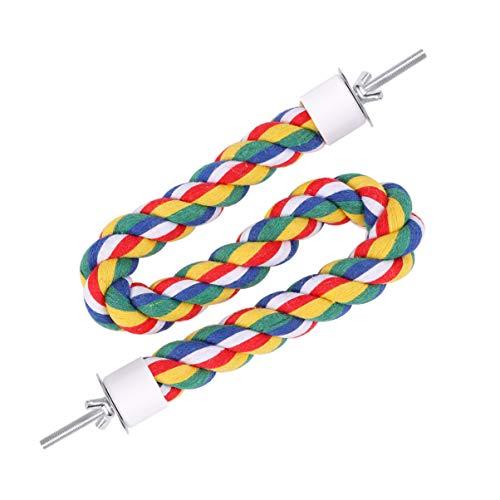 UKCOCO Cuerda de Loro Cuerda de Pájaros Cuerda de Algodón de Loro Cuerda de Escalada de Pie Juguete para Mascotas Aves Cuerda Flexible Tienda en Casa