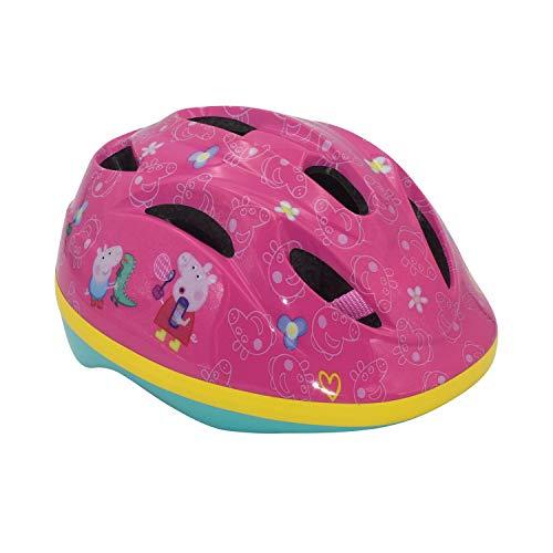 Volare Kinder Fahrradhelm Peppa Pig Rosa | Schutzhelm für Kinder Gr. 51-55 cm verstellbar | Alter 3-12 Jahre