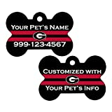Georgia Bulldogs Double Sided Pet Id Tag for Dogs & Cats Personalized with 4 Lines of Text