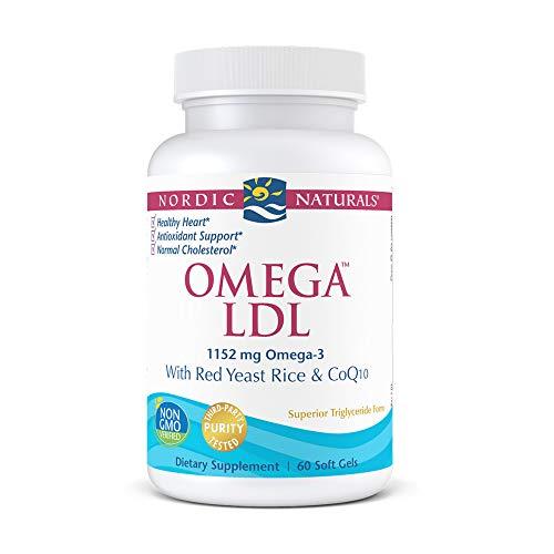 Nordic Naturals Omega LDL, Lemon - 60 Soft Gels - 1152 mg Omega-3 +...