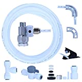 YUHX Water Filtration Ice Maker Fridge Installation Kit with Shut-Off T Valve,1/4'X 25 Feet Tubing for Appliance Water Line with Stop Tee Connection and Valve for Quick Installation
