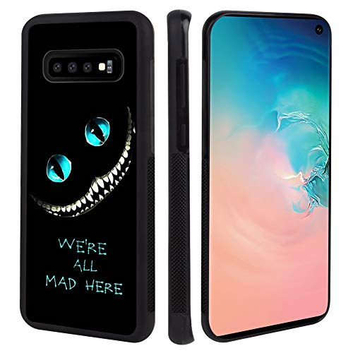 TPU+PC Case Fit for Samsung Galaxy S10+ 6.4in Alice in Wonderland Cheshire Cat