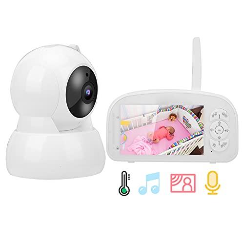 Baby Monitor, el Tiempo de Trabajo se ha ampliado Dos Veces Monitor de Audio bidireccional Conecte hasta 4 cámaras para observar y comunicarse con su bebé(Transl)