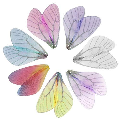 Abalorio de ala de libélula para llaves voladoras, diseño de alas de mariposa artificiales para...