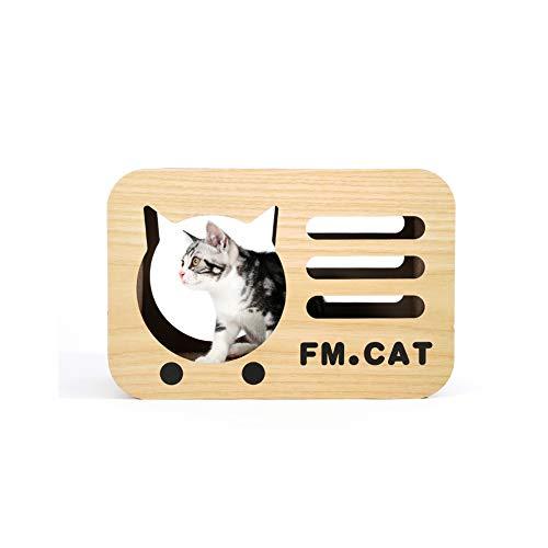 Eshow 猫ちゃん 爪とぎ 猫用爪とぎ キャット 猫ハウス 猫ベッド 高密度段ボール ストレス解消 ラジオタイプ