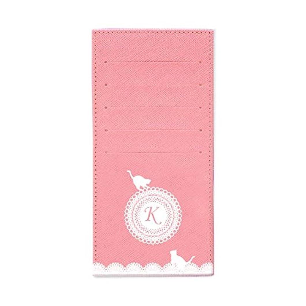 バーゲン不倫定期的なインナーカードケース 長財布用カードケース 10枚収納可能 カード入れ 収納 プレゼント ギフト 3015レースネーム (K) パウダーピンク mirai