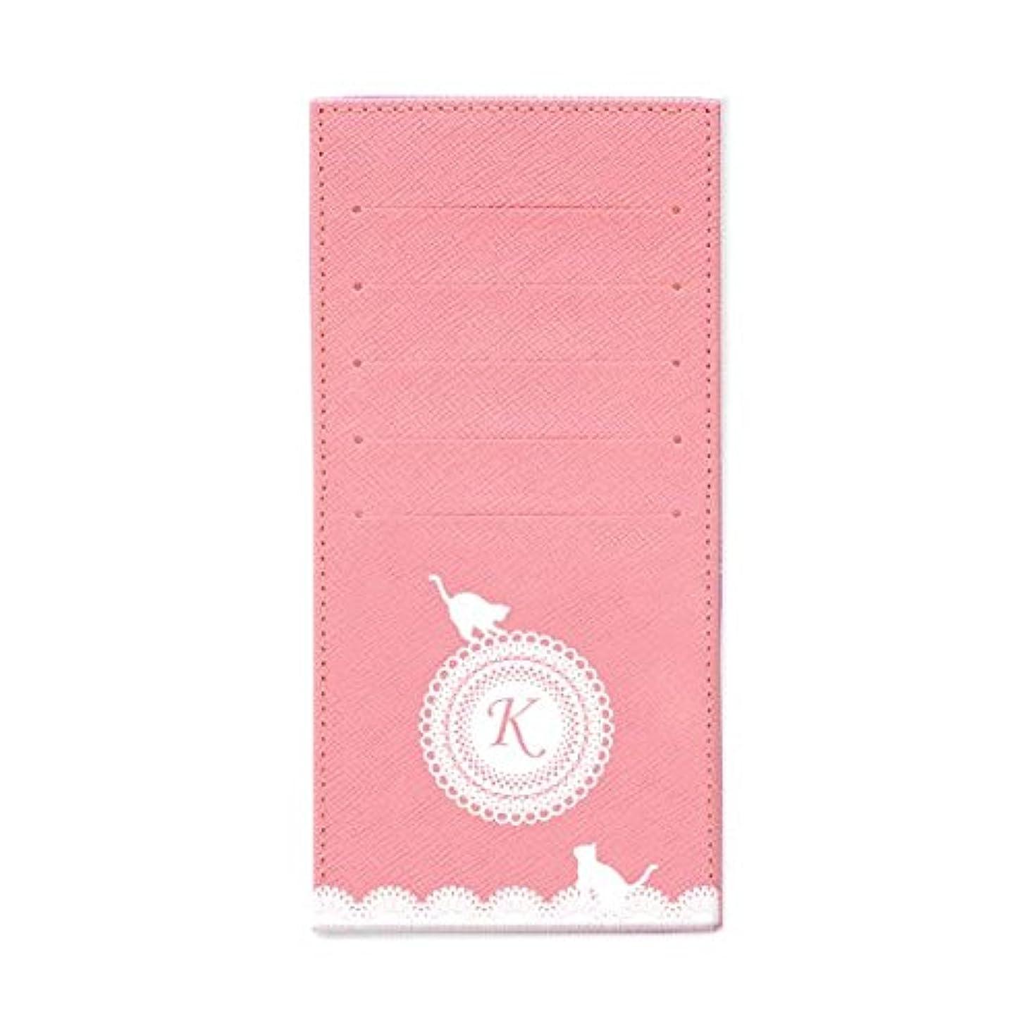避けられないドレスフィドルインナーカードケース 長財布用カードケース 10枚収納可能 カード入れ 収納 プレゼント ギフト 3015レースネーム (K) パウダーピンク mirai
