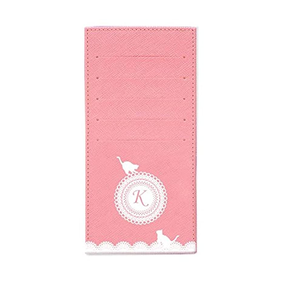 である曲がったリビジョンインナーカードケース 長財布用カードケース 10枚収納可能 カード入れ 収納 プレゼント ギフト 3015レースネーム ( K ) パウダーピンク