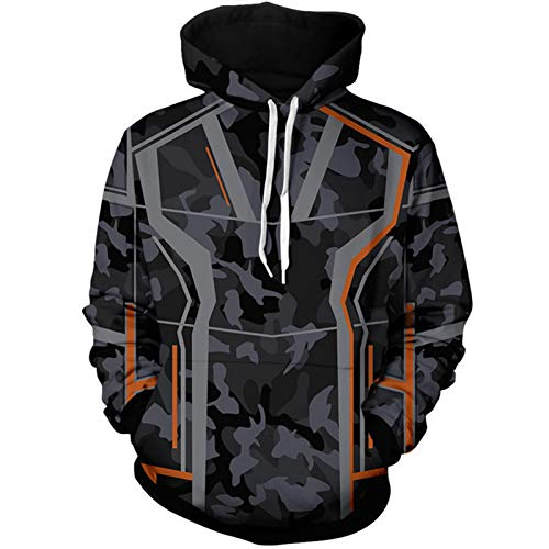 GYMAN Iron Man Tony Stark Hoodies Windproof Pullover Sweatshirts Casual Jacket Child Adult 3D Print Coat With Kangaroo Pocket For Christmas Birthday Gift,4-Small