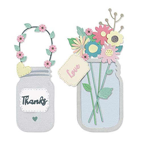 Sizzix 665079 Thinlits Troquel de flores de Lisa Jones 17 unidades
