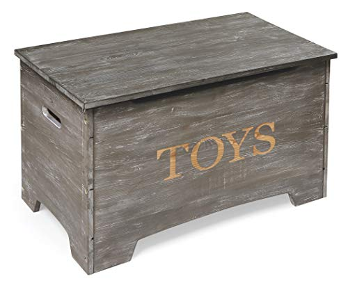 Solid Wood Rustic Toy Box with Lift Top