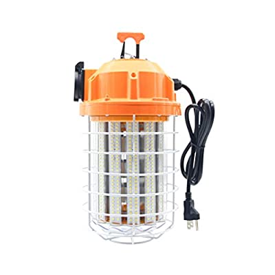 100W LED Temporary Work Light Fixture 13,500 Lumen Daylight White 5000K, IP64 Dust & Waterproof, Stainless Steel Protective Cover for High Bay Construction Jobsite Workshop