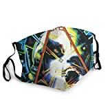 KAQ Def Leppard Hysteria Reusable Breathable Face Mask Anti-Dust Wind Mouth Mask Black