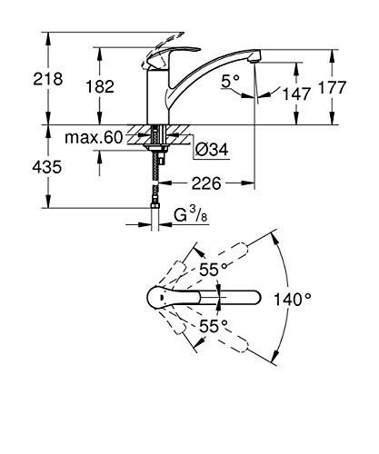 Grohe – Eurosmart Einhand-Spültischbatterie, Chrom - 14