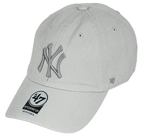 Gorra curva blanca de New York Yankees MLB Clean Up de 47 Brand - Gris, Talla única