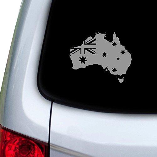 StickAny Auto- und Autoaufkleber Serie Australien Land W Flagge Aufkleber für Fenster, Türen, Motorhauben (Silber)