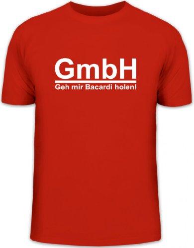 Shirtstreet24, GEH\' Mir Bacardi Holen! Herren T-Shirt Fun Shirt Funshirt, Größe: XXL,rot