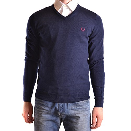 PULL FRED PERRY COL V MARINE 100% LAINE