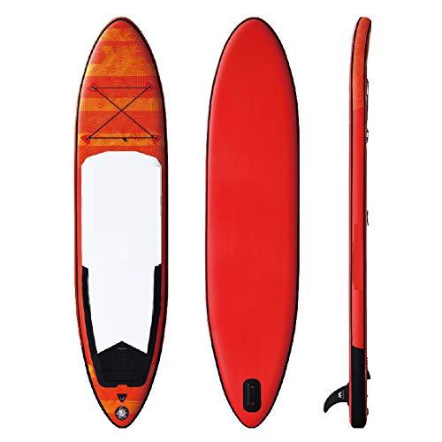 LHR Planche De Stand-up Paddle Board Planche De Surf Gonflable Planche De Stand-up Paddle Planche De Surf avec Accessoires De Sac à Dos Adaptés Aux Enfants Adultes Débutants Et Amateurs De Surf