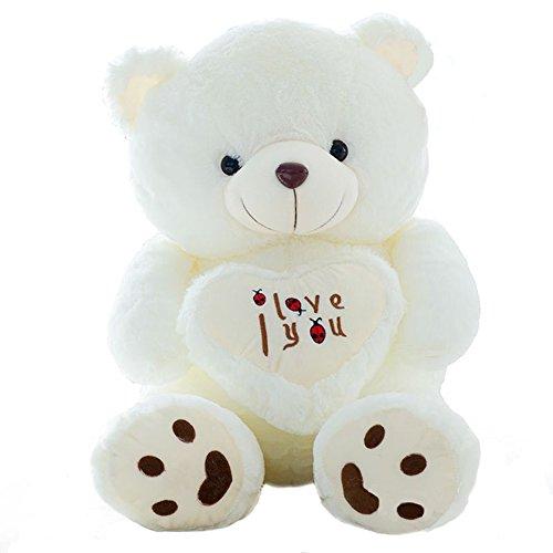 Vercart pulgadas blanco I Love You oso de peluche 70Ccm