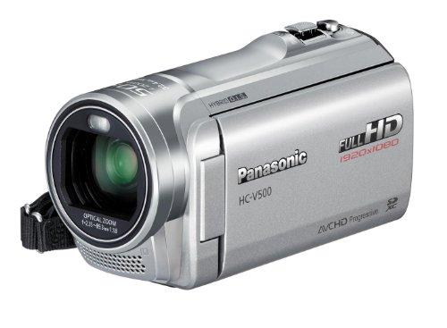 Panasonic HC-V500EG-S Full-HD-Camcorder (7,6 cm (3 Zoll) Touchscreen, 1,5 Megapixel, 38-fach opt. Zoom, 1Mos Sensor, 32mm Weitwinkel, 2D/3D-Umwandlung) silber
