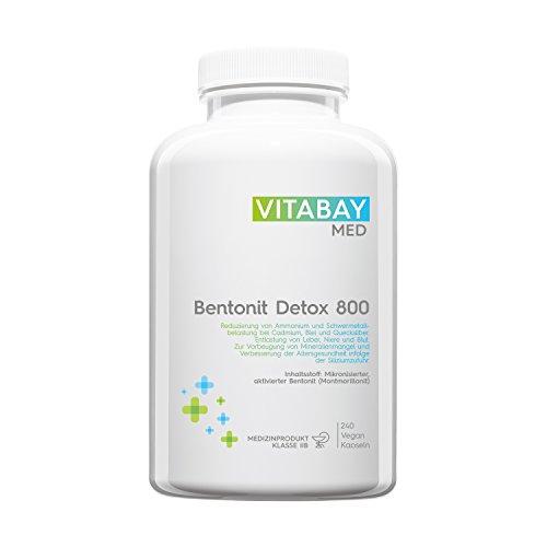 Bentonit DETOX 800 - mehr als 90% Montmorillonit - zur Entgiftung - 240 vegane Kapseln