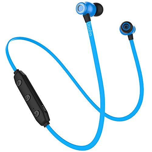 Abafia Auriculares Bluetooth, Auricular Deportivo Inalámbricos Auriculares Bluetooth V5.0 con Magnética Diseño In-ear para iPhone XR XS Honor P30   P30 pro Galaxy S9   S8   Redmi (Azul)