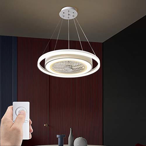 SXYY-Abgehängte Decke LED Modern Deckenventilator Licht/Unsichtbares Fan Licht - Deckenventilatoren Mit Beleuchtung Und Fernbedienung, Für Schlafzimmer/Küche/Wohnzimmer, Φ23.62In 72W