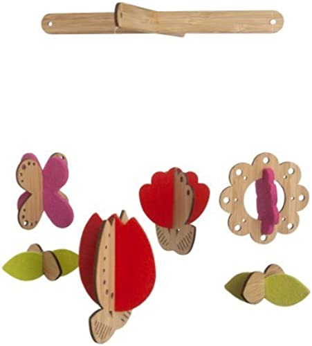 Petit Collage Bamboo Deluxe Flower Mobile by Petit Collage