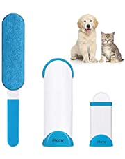 Lint Brush - Pet Hair Remover Brush - Dog & Cat Fur Remover with Self-Cleaning Base - efficient Double Sided Animal Hair Removal Tool - Perfect for Clothing, Furniture, Couch, CarPet, Car Seat