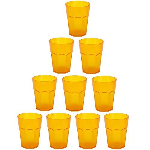 ENGELLAND 10 vasos de plástico para fiestas, vasos de plástico reutilizables, vasos...