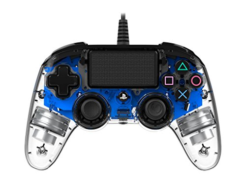 comparador Controlador Nacon PS4OFCPADCLBLUE-Compact para PS4, azul transparente