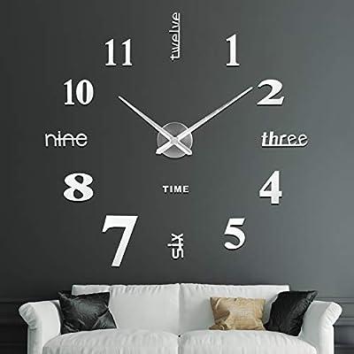 ❤ [Reloj de Bricolaje, 60-120 cm] Ideal producto de bricolaje. Tiene un diámetro mínimo de 60 cm y un diámetro máximo de 120 cm. El tamaño grande es adecuado como fondo para rellenar y decorar los paredes vacías. Fácil de instalar el reloj de bricola...